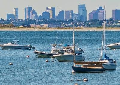 Boston view from Swampscott 1